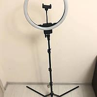 Профессиональная кольцевая LED лампа 45 cv с штатив-треногой для косметологии 60 ват