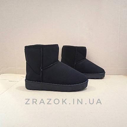 Замшеві уггі UGG дитячі теплі черевички уггі дитячі чобітки чорні 32, 33, 35, розмір, фото 2