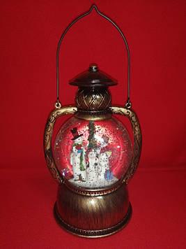 Декоративный рождественский фонарь с ручкой