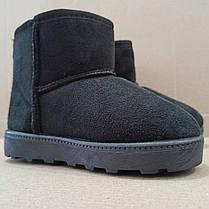 Замшеві уггі UGG дитячі теплі черевички уггі дитячі чобітки чорні 32, 33, 35, розмір, фото 3