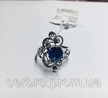 Колечко в серебре с синим цирконом Прима