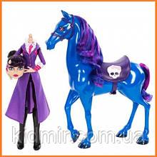 Лялька Monster High директриса без голови Бладгуд (Bloodgood) з конем базова Монстр Хай