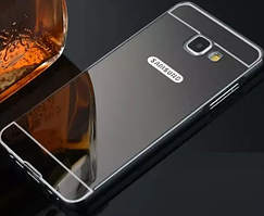 Чехол бампер для Samsung Galaxy A8 Plus 2018 A730 зеркальный
