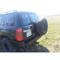 Бампер задний для Nissan Patrol Y61 GU4 (2005-2009)