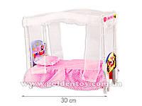"""Мебель для куклы """"Маша и медведь"""", кровать, свет, звук"""