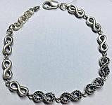 Браслет в серебре знак бесконечности Удача, фото 4