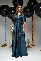 Великолепное Вечернее Платье в Пол Вырез на Запах Изумрудное S-XL