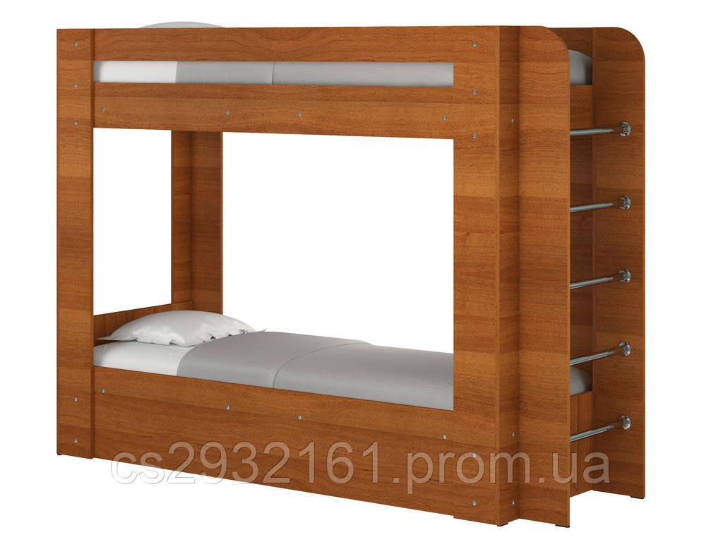 Кровать Олимп. Кровать для двоих детей. Кровать двухъярусная. Кровать с двумя спальными местами. лесной орех