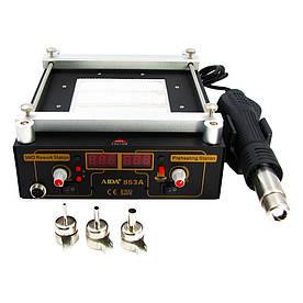 Преднагреватель AIDA 853A (инфракрасный, керамический, с термовоздушным феном и цифровой индикацией)