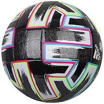 Мяч футбольный Adidas Uniforia Training Ball Euro 2020 №4 FP9745 Черный, фото 3