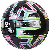 Мяч футбольный Adidas Uniforia Training Ball Euro 2020 №5 FP9745 Черный, фото 2