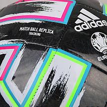 Мяч футбольный Adidas Uniforia Training Ball Euro 2020 №5 FP9745 Черный, фото 3