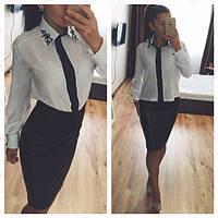 Блузка с аппликашией