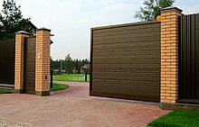 Откатные ворота Platogor 3200x2000 въездные самосварные