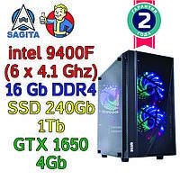 Игровой компьютер / ПК  ( intel i5-9400F(6 x 4.1GHz) / B360 / 16Gb DDR4 / SSD 240 +1 Tb / GTX 1650 4Gb / 500W), фото 1
