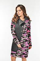 Женское платье прямого силуэта Лейла Lipar Розовое