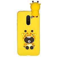 Чехол Cartoon 3D Case для Xiaomi Pocophone F1 Жираф