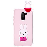 Чехол Cartoon 3D Case для Xiaomi Pocophone F1 Кролик