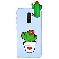 Чехол Cartoon 3D Case для Xiaomi Pocophone F1 Кактусы