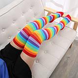 Яркие гетры разных расцветок гольфы выше колена веселые чулки америка Код 09-01034, фото 8