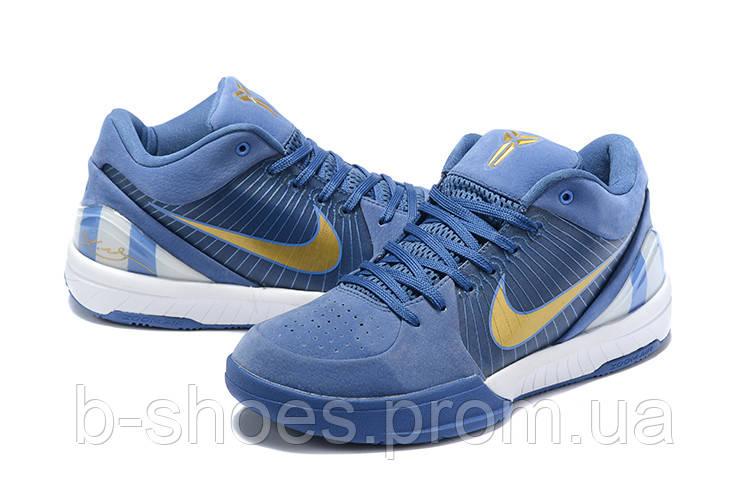 Мужские Баскетбольные кроссовки Nike Kobe 4 Pronto(Blue)