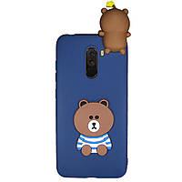 Чехол Cartoon 3D Case для Xiaomi Pocophone F1 Мишка
