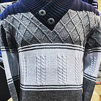 Стильный   мужской  свитер - Даниэль..Шаль. ( Зима-осень- 48-50, 52-54 )