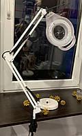 Лампа-лупа настольная 2 в 1 (подставка и струбцина)