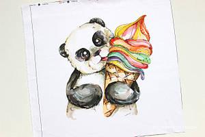 Панелька сатин Панда с мороженным 40*40