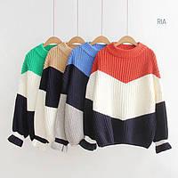 Женский свитер крупной вязки (расцветки)