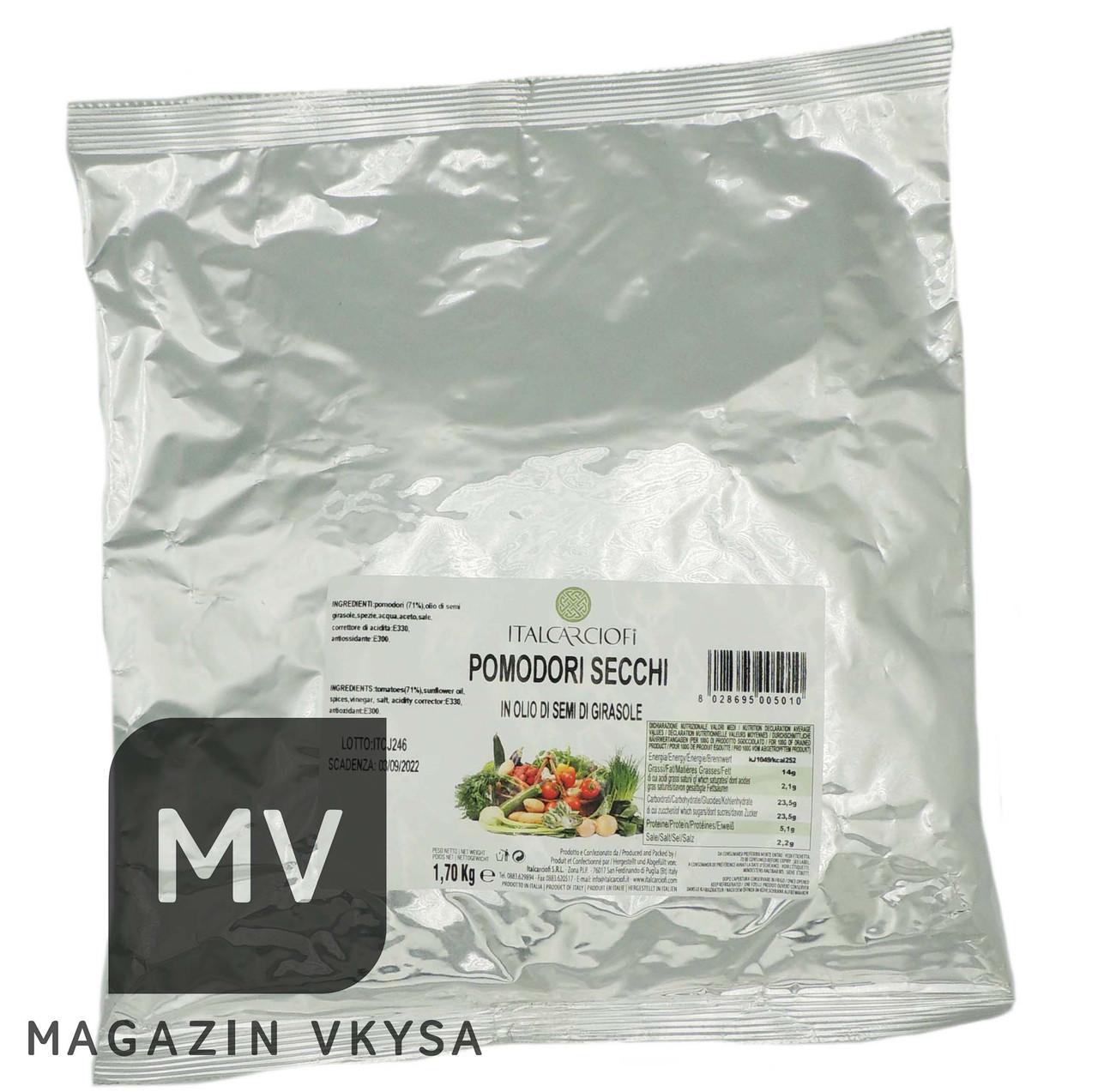 Томаты вяленные в мягкой упаковке tm Italcarciofi 1,7 кг
