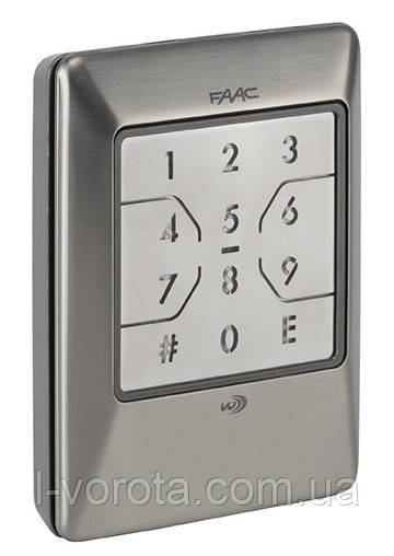 FAAC XKP W 433 INOX беспроводная кодовая клавиатура