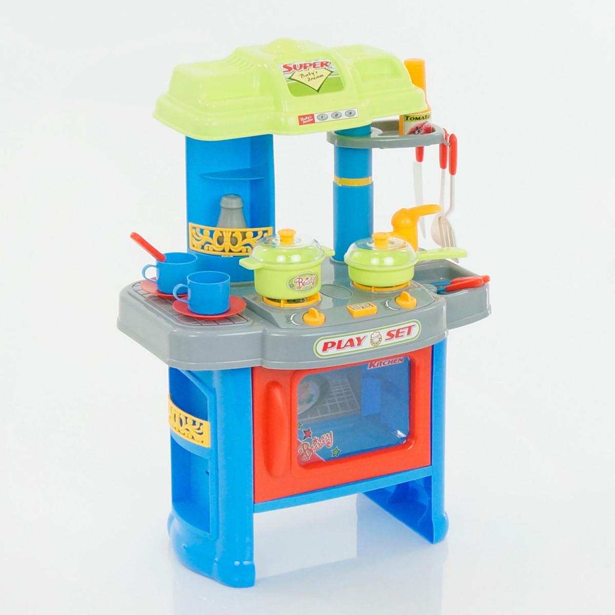 Детская игровая кухня KITCHEN PLAY SET (008-26 А) с подсветкой и музыкой