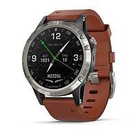Авиационные часы Garmin D2 Delta, Sapphire,Black w/Brown Leather Band,GPS Watch,EMEA
