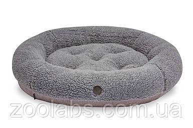 Лежак для котов и кошек Bagel Fur Grey. Круглый. Harley and Cho