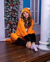 Пижама женская (новогодний костюм) кигуруми лиса, фото 1