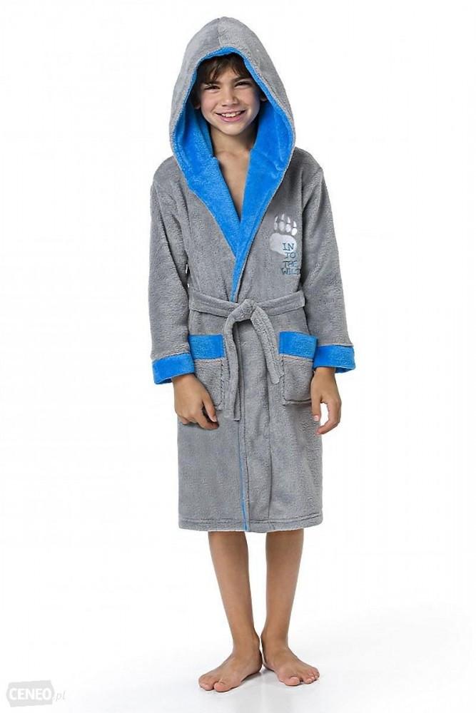 Тёплый детский махровый халат