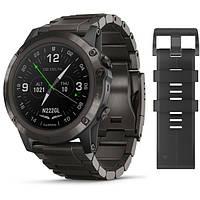Авиационные часы Garmin D2 Delta, Sapphire,Black w/Brown Leather Band,GPS Watch,EMEA, фото 1