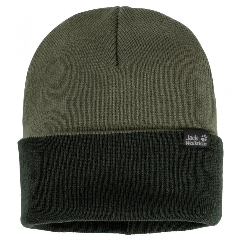 Зеленая шапка Jack Wolfskin Rib Hat