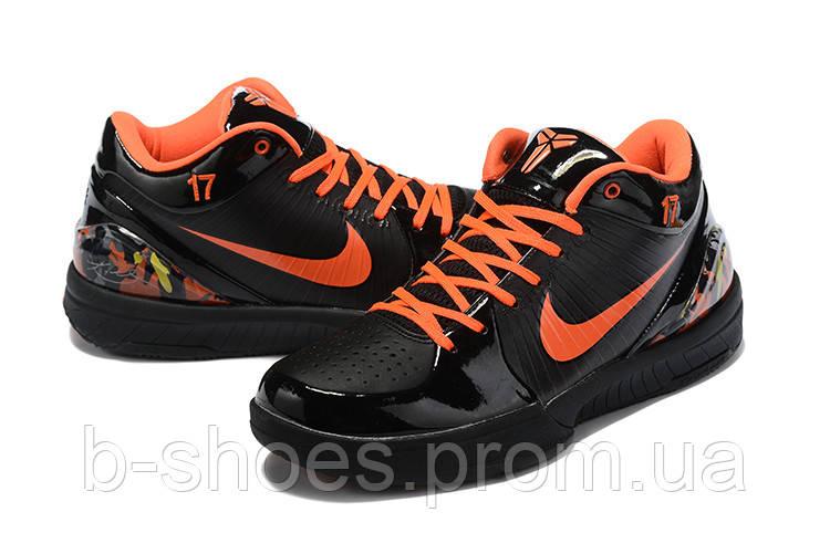Мужские Баскетбольные кроссовки Nike Kobe 4 Pronto(Black/orange)