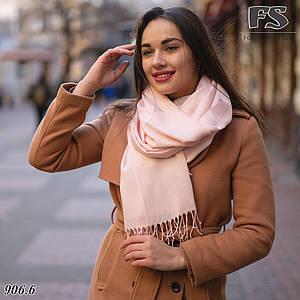 Пудровый шарф из пашмины