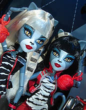 Набор кукол Monster High Пуррсефона и Мяулодия (Meowlody & Purrsephone) Монстер Хай