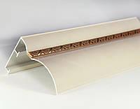 Карниз алюминиевый 2-х рядный БР-12 крашенный с косичкой (64*46 мм)