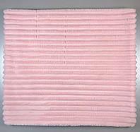 Детский двусторонний плюшевый плед, розово-серый