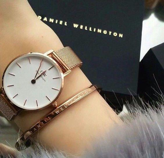 Годинник і браслет Daniel Wellington Classic Petite Melrose DW копія