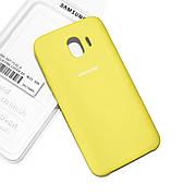 Cиликоновый чехол на Samsung J4 J400 2018 Soft-touch Lemon