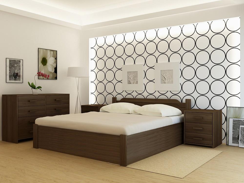 Кровать деревянная YASON Stokgolm PLUS с подъемным механизмом (Массив Ольхи либо Ясеня)