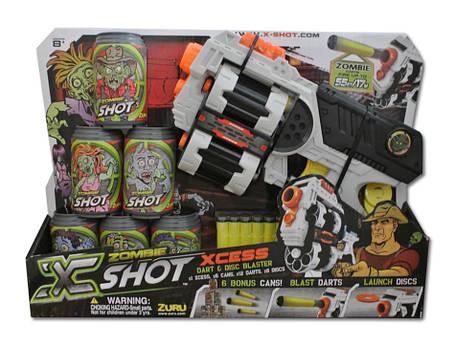 Игрушечное оружие X-Shot Бластер Ураган Зомби, фото 2