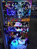 Новорічна світлодіодна гірлянда 300 led синя Six Cornered, фото 3