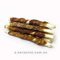 Лакомство для собак - палочка с мясной намоткой из утиного мяса